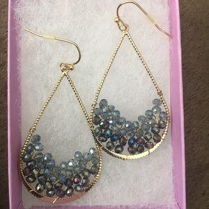FRANCESCA jewel beads teardrop earrings